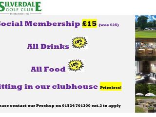 Social Membership for only £15