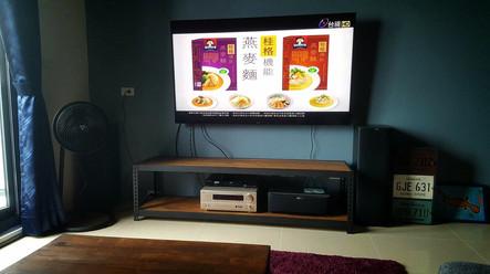 電視架,電視櫃,此顏色是客人自行上護木漆。