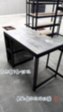 黑砂紋+柏拉圖 組合桌J型 鍵盤抽_200413_0004.jpg