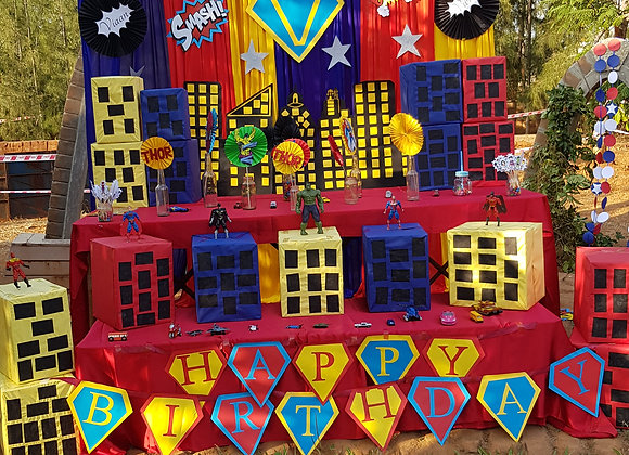 Happy birthday Banner - Super Hero theme