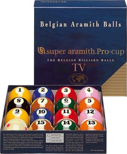 Super Aramith Pro Pool and Billiard Ball TV Set