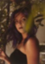 Amalea Joy Sanchez, Sabra Teel, photoshoot model purple hair