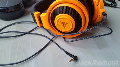 Замена кабеля наушников с микрофоном до 2 м.