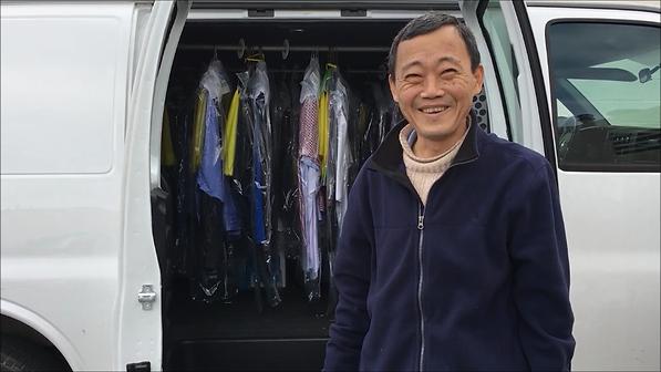 Michael Moon in front of his Delivery Van