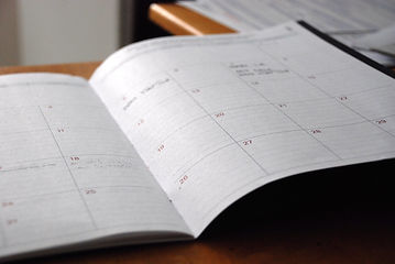 Calendar for scheduling delivery dates.