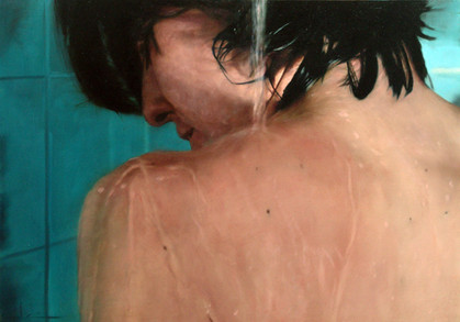 """Water and skin series Nº4 Oil on board  26""""x 32"""" / 65x81cm 2007 Private colletion Spain"""