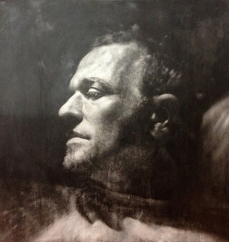 "Portrait Nº3 Graphite on paper glued to board  36""x36"" / 90x90cm 2012"