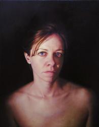 """Portrait in Chiaroscuro Oil on board 38""""x29"""" / 94x72cm 2010"""