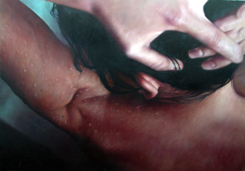 """Back and shoulders series Nº2 Oil on board 26""""x32"""" / 65x81cm 2006 Private colletion Spain"""