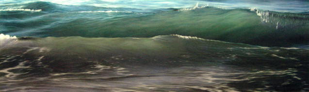Double wave Oil on canvas 2012