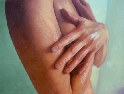 """Water and skin  Oil on board 24""""x32"""" / 65x81cm 2002 Private colletion USA"""
