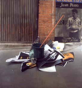"Music in Madrid  Oil on board 63""x59"" / 160x150cm  2001"