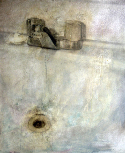 Sink  Graphite, Oil and Encaustic 22x18 2009