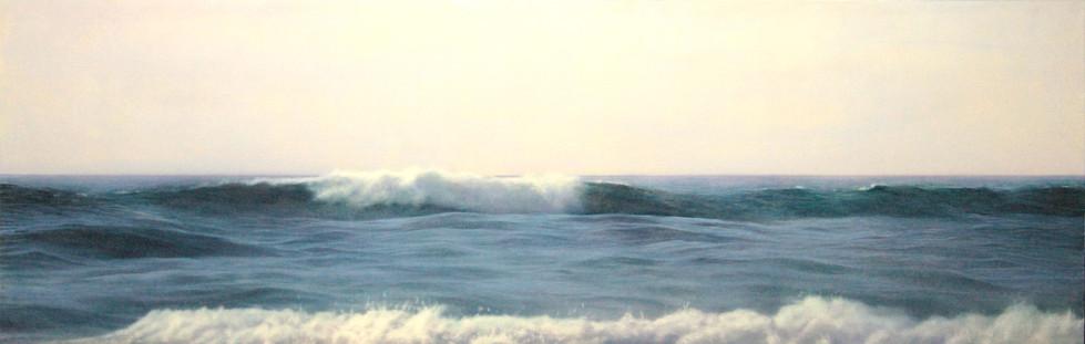 Waves  Oil on board