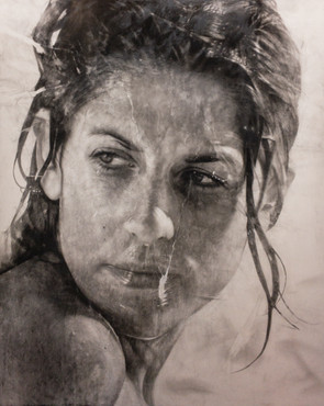 """Portrait Nº13 Graphite and charcoal on paper glued to board 60""""x48"""" / 150x120cm 2019"""