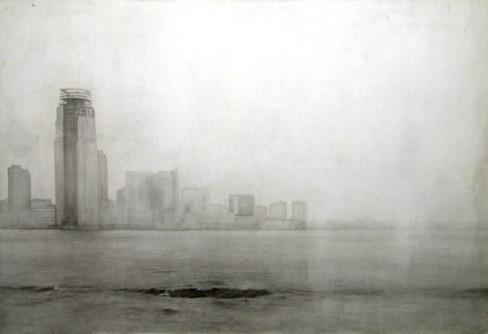 Skyline New Jersey Pencil on board  (76x112cm) 2011