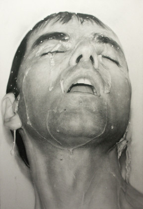 """Portrait Nº6  Graphite and charcoal on paper glued to board 72""""x48"""" / 180x120cm 2013 Private collection Greece"""