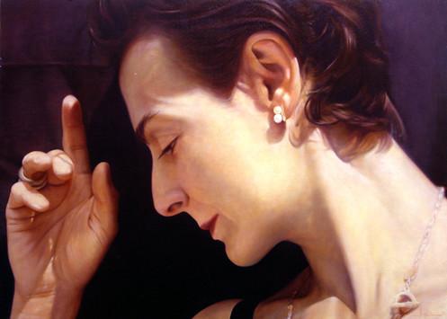 """Cristina  Oil on board  29""""x42"""" / 73x104cm 2004 Private collection USA"""
