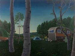 Fireflies 34x46 oil on canvas