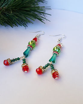 Elf on the Shelf Christmas Earrings Eni Macrame Bijou Handmad Jewelry Cabochons and Supplies Cyprus Larnaca Unique Handcrafted Macrame Beaded Polymer Clay Free Delivery Bracelet Earrings Necklace Rings