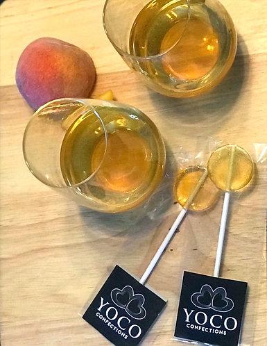 Peach Bourbon Lollipops 21+ ONLY  (1/2 dozen)