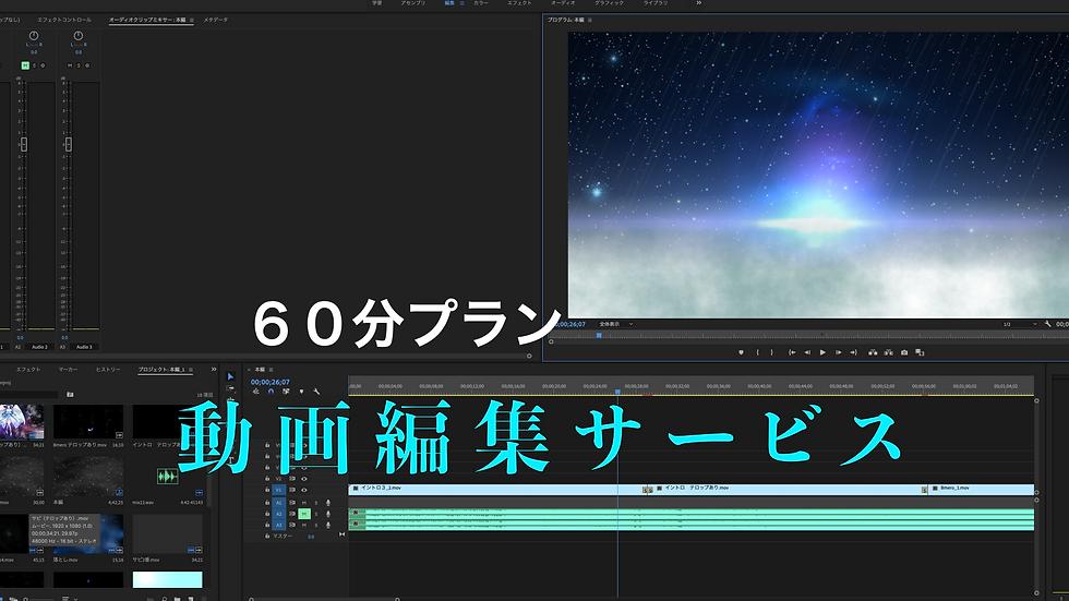 60分プラン 動画編集サービス