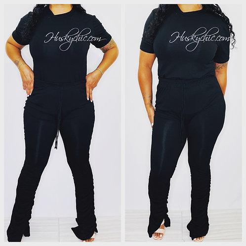 BLACK T-SHIRT & PANTS