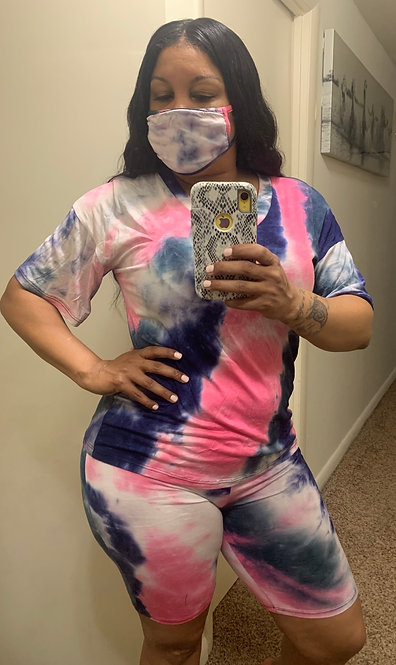 TYE DYE WITH MASK (PINK&BLUE)