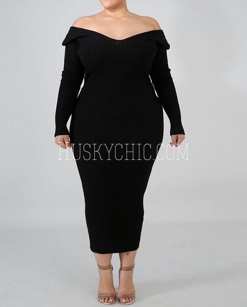 BLACCC RIBBED DRESS