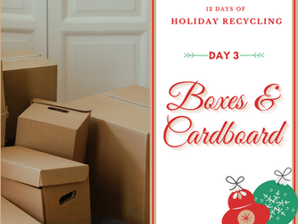 Day 3 - 12 Days of Holiday Recycling (2020)
