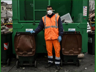 Waste Worker on COVID-19 Front Lines, Too