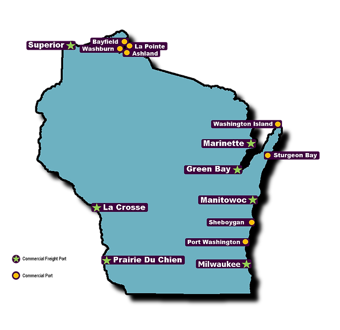 Wisconsin Ports Map