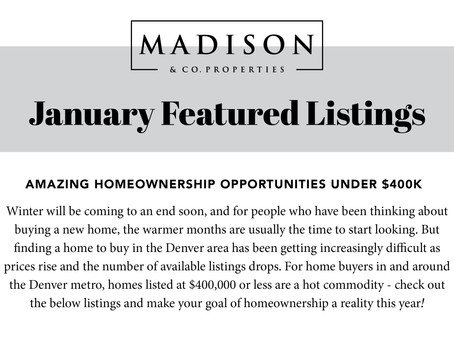 January Featured Listings