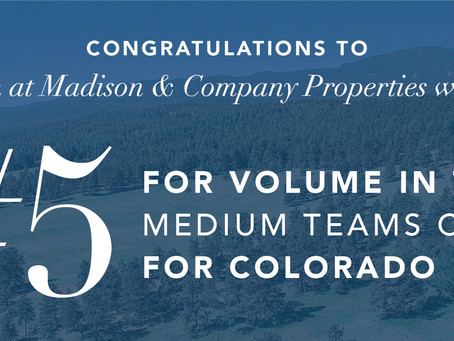 Tupper's Team from Madison & Co Properties Ranks #5!