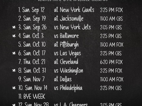 Bronco's Football Schedule 2021 (Madison & Co.)