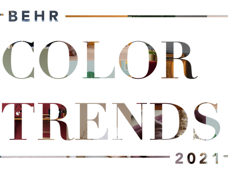 Introducing some of our favorite BEHR Color Trends of 2021