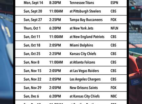 2020 Denver Broncos Football Schedule (Madison & Company Properties)
