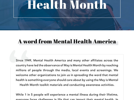Mental Health Month - Madison & Company Properties