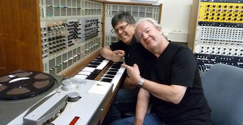 John & Henk with ARP 2500