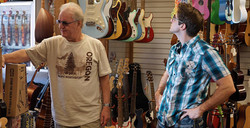 Henk and Ky at MIR Music Store