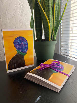 African Violet Greeting Cards - Pack of 4