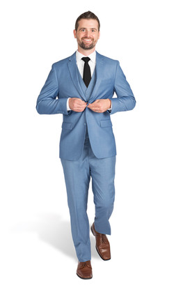 Light Blue Verona Slim Fit Tux