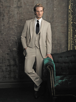 Tan Allure Slim Fit Suit