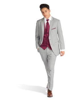 Heather Grey Allure Slim Fit Suit