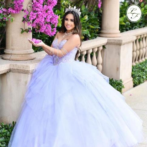 Vestido de Quinceanera Lila