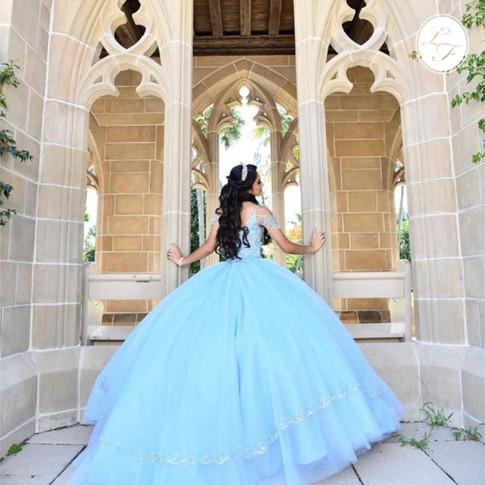 Vestido de Quinceanera Celeste