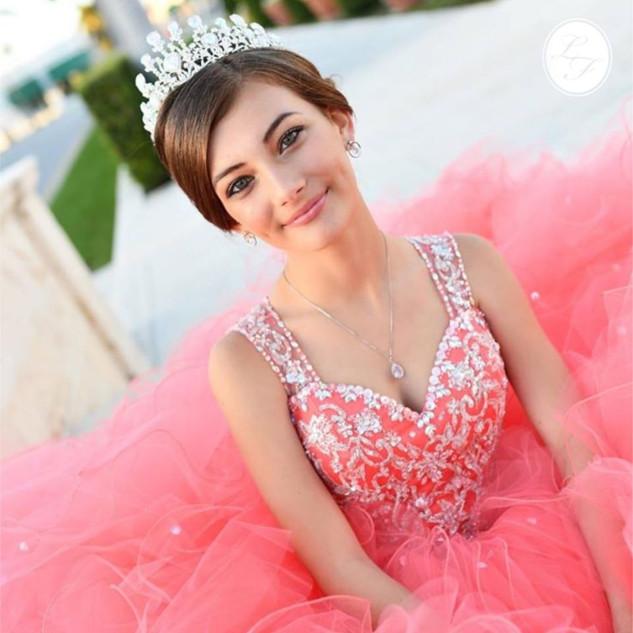 Vestido de Quinceanera Coral