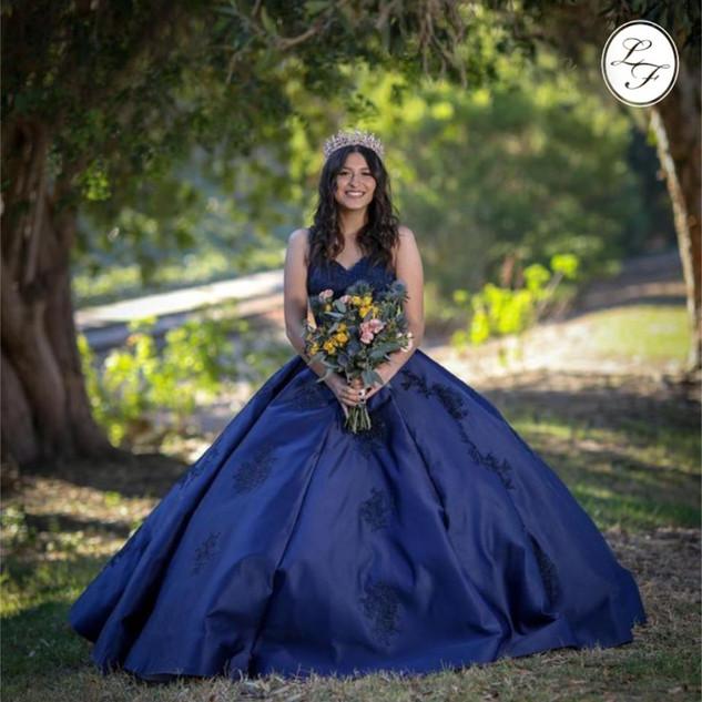 Vestido de Quinceanera Navy Blue