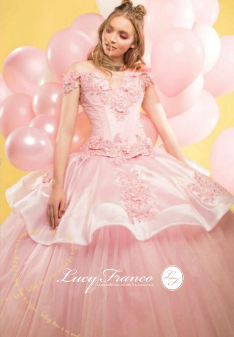 Vestido de Quinceanera En Rosa Blush