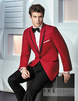 Red Carter Slim Fit Tux